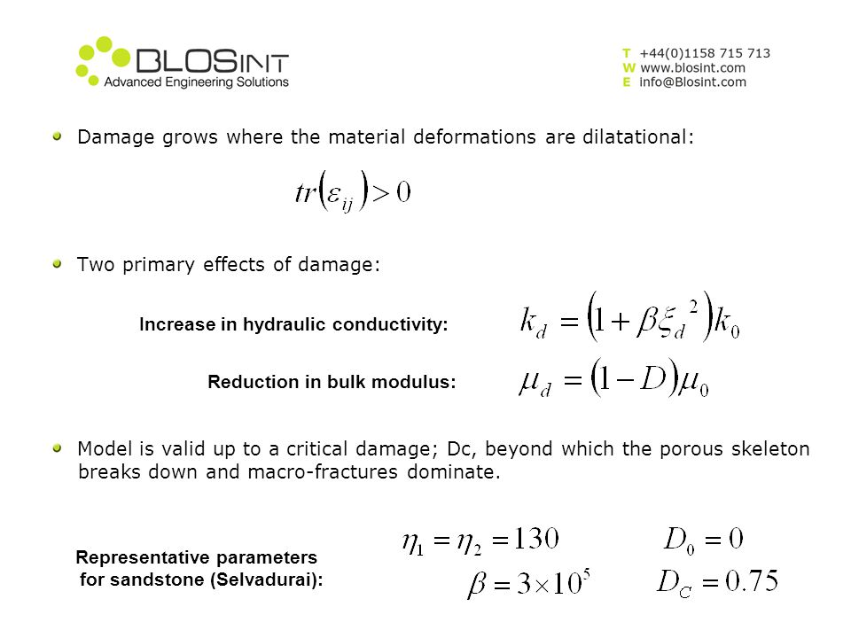 Damage grows where the material deformations are dilatational:
