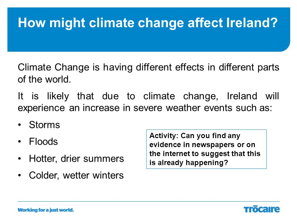 How might climate change affect Ireland