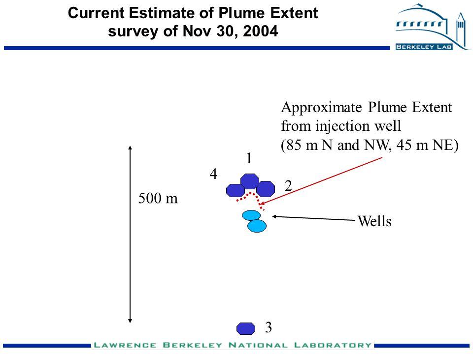 Current Estimate of Plume Extent survey of Nov 30, 2004