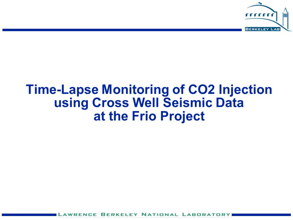 Time-Lapse Monitoring of CO2 Injection using Cross Well Seismic Data at the Frio Project