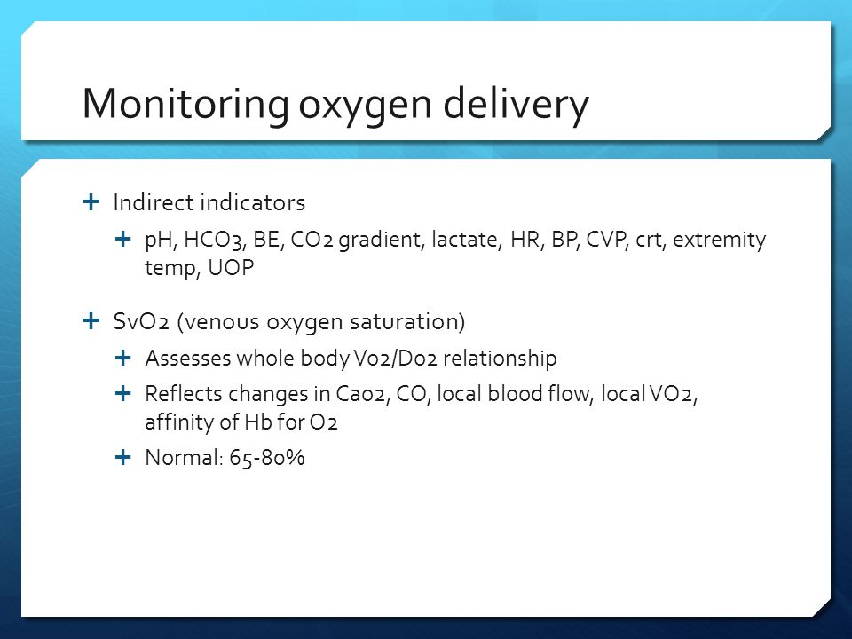 Monitoring oxygen delivery
