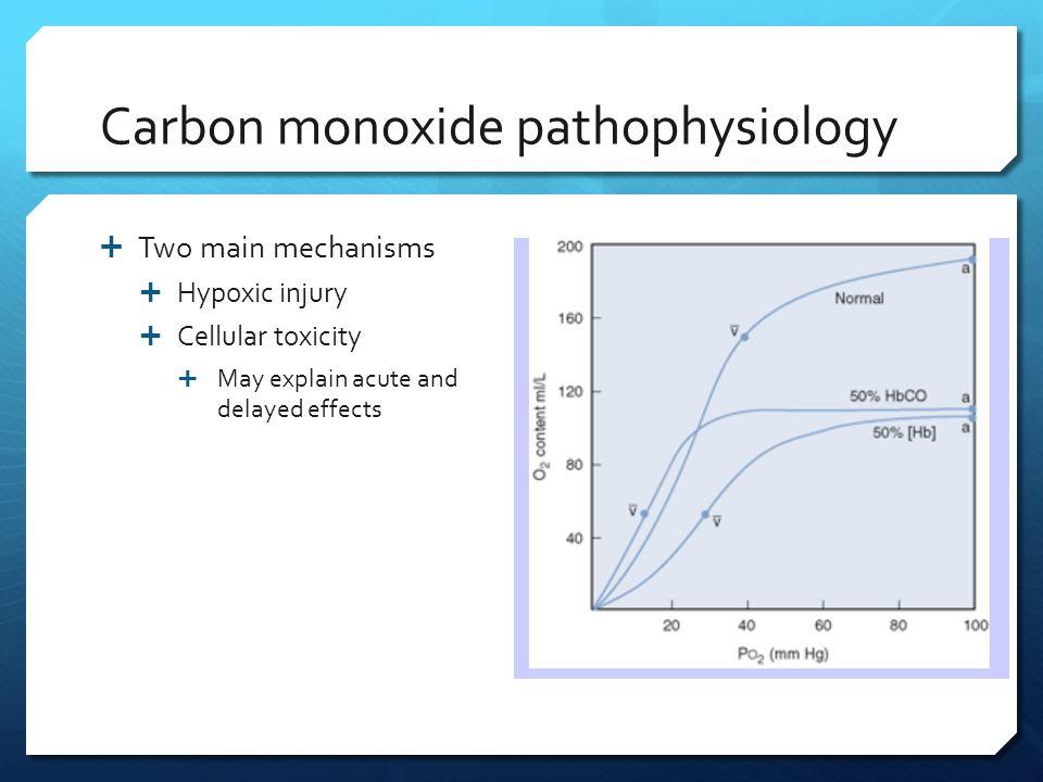 Carbon monoxide pathophysiology