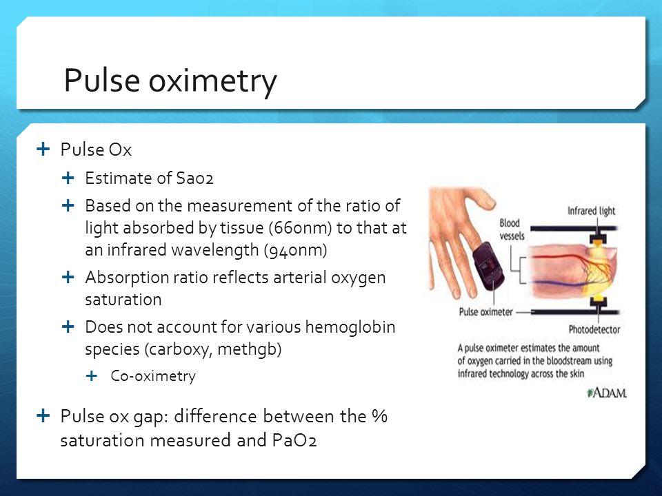 Pulse oximetry Pulse Ox