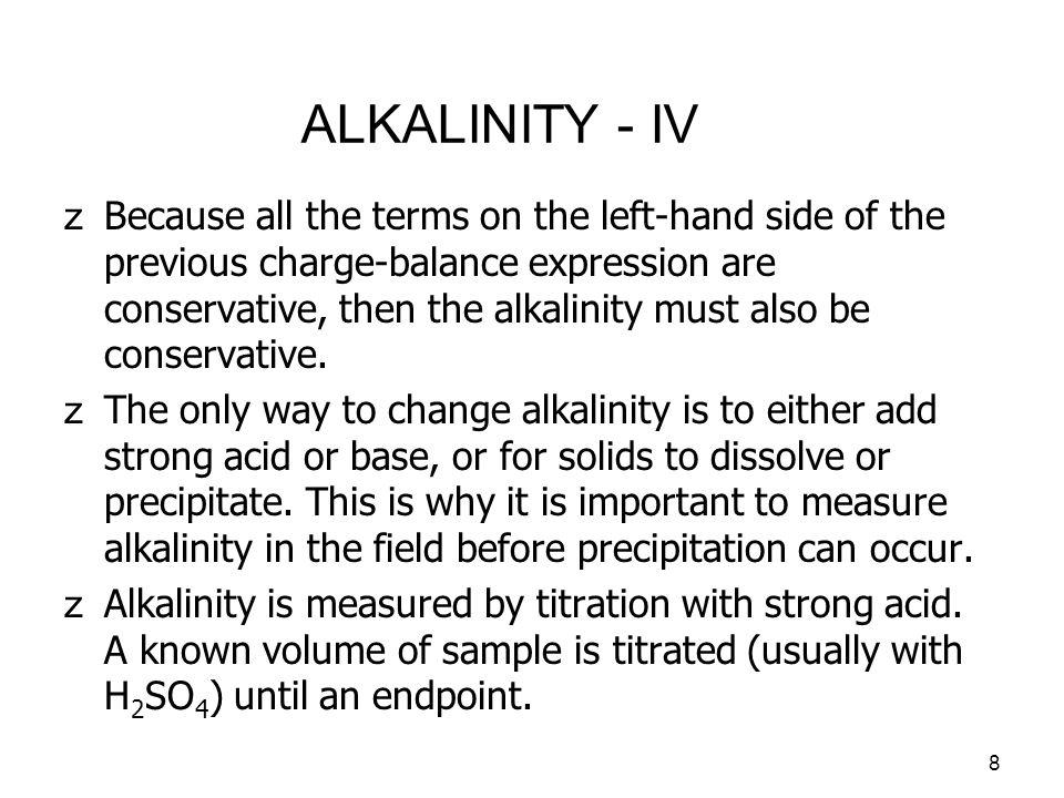 ALKALINITY - IV