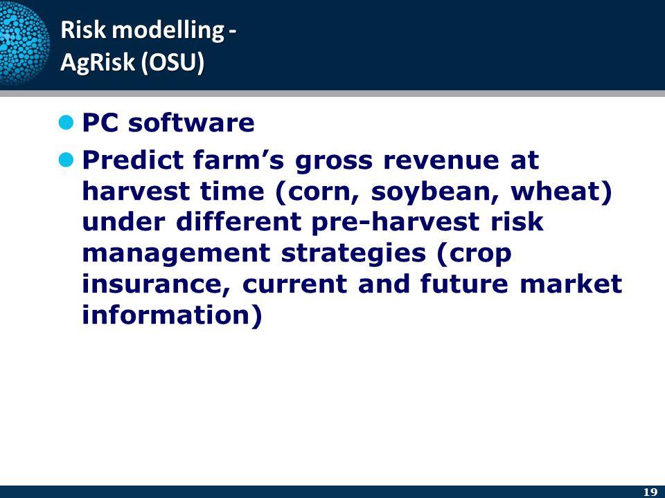 Risk modelling - AgRisk (OSU)