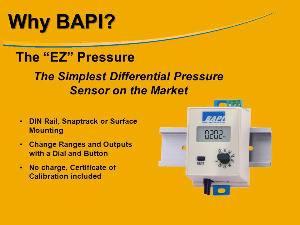 The Simplest Differential Pressure Sensor on the Market