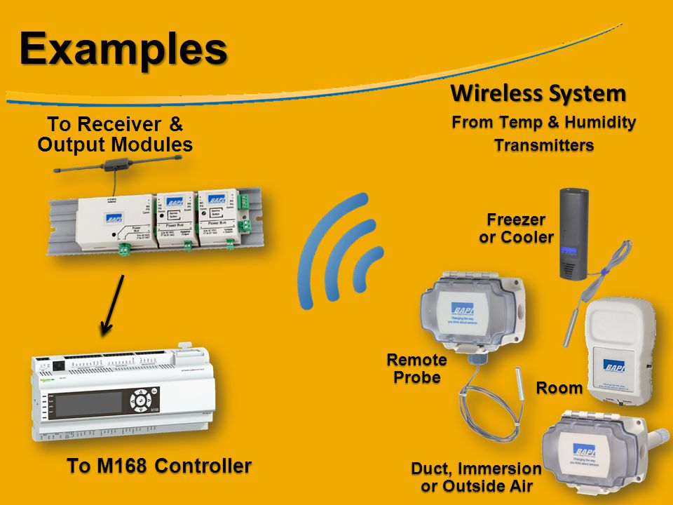 Examples Wireless System To Receiver & Output Modules
