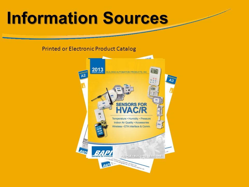 Information Sources Printed or Electronic Product Catalog