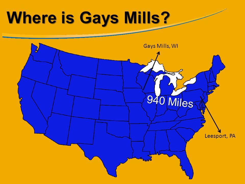 Where is Gays Mills Gays Mills, WI 940 Miles Leesport, PA