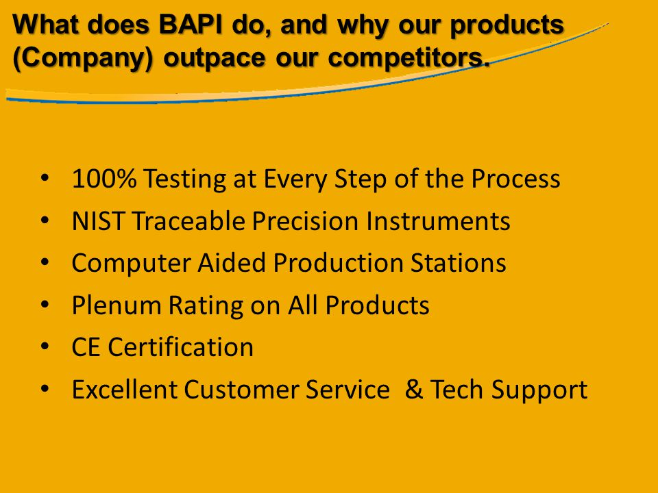100% Testing at Every Step of the Process