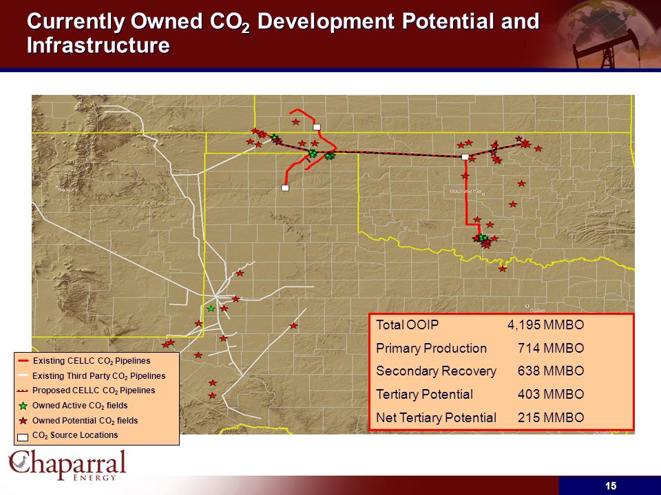 Currently Owned CO2 Development Potential and Infrastructure