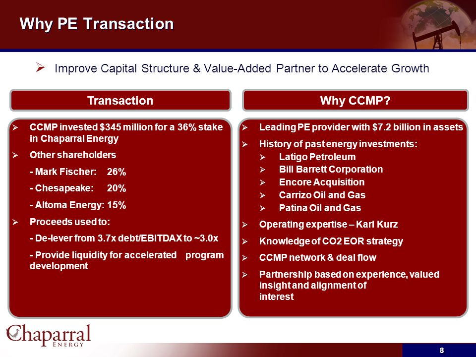 Why PE Transaction Improve Capital Structure & Value-Added Partner to Accelerate Growth. Transaction.