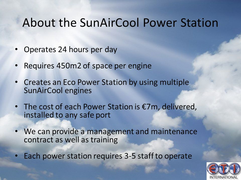 About the SunAirCool Power Station