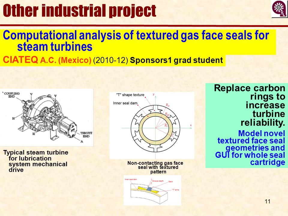 Non-contacting gas face seal with textured pattern