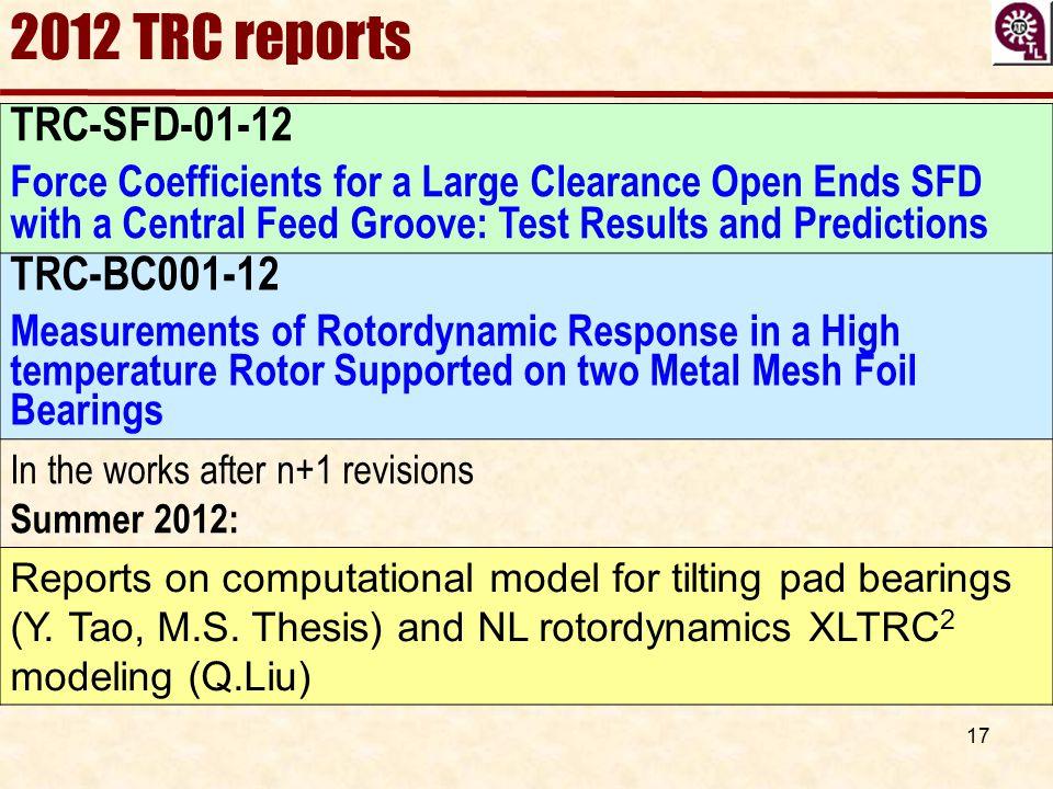 2012 TRC reports TRC-SFD-01-12 TRC-BC001-12