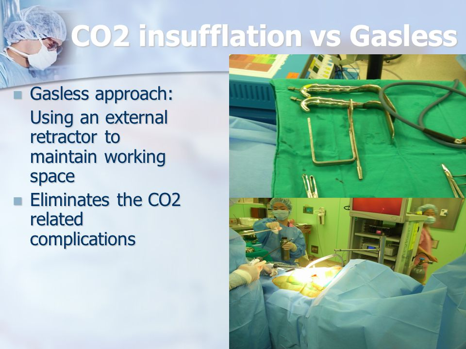 CO2 insufflation vs Gasless