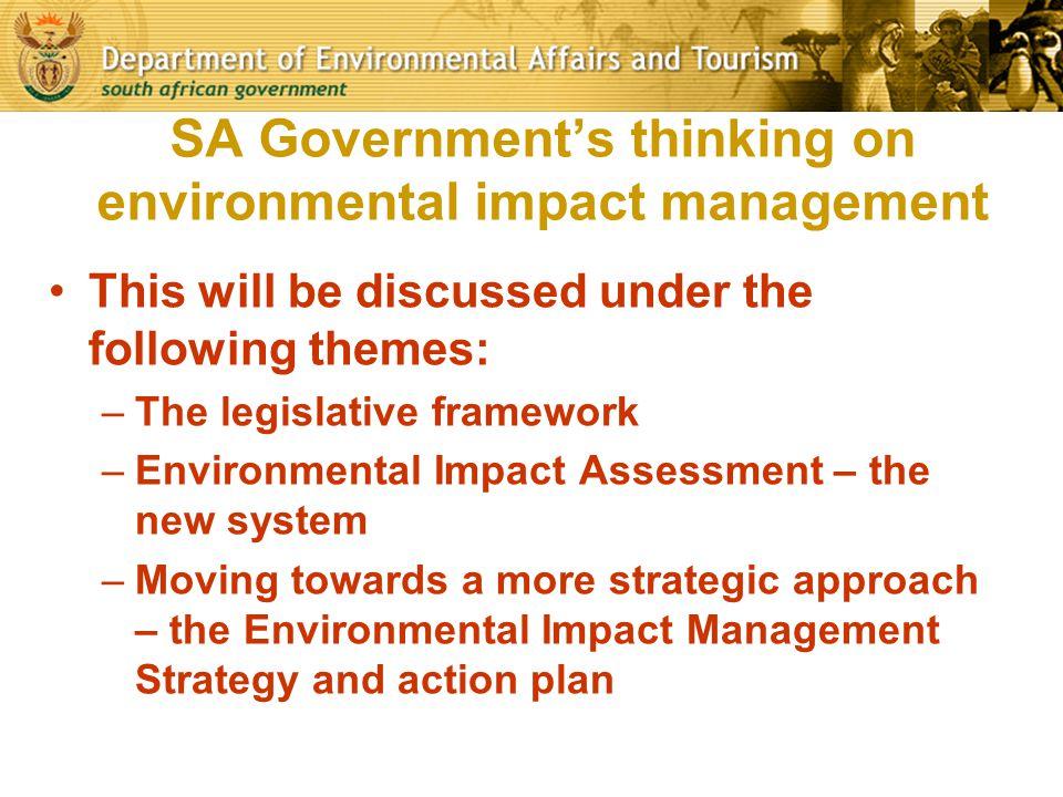 SA Government's thinking on environmental impact management