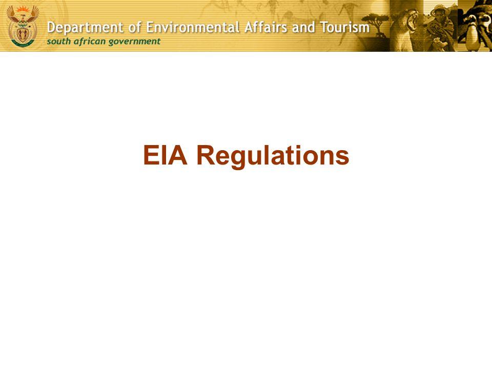 EIA Regulations