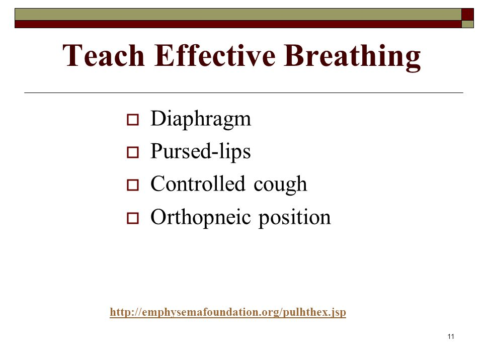 Teach Effective Breathing