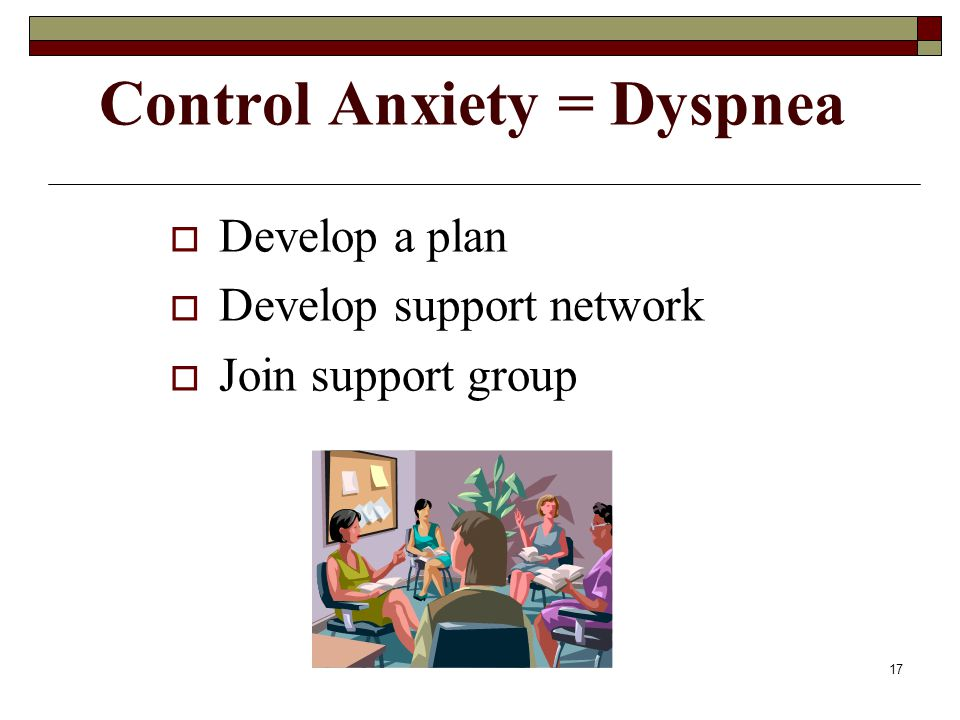 Control Anxiety = Dyspnea