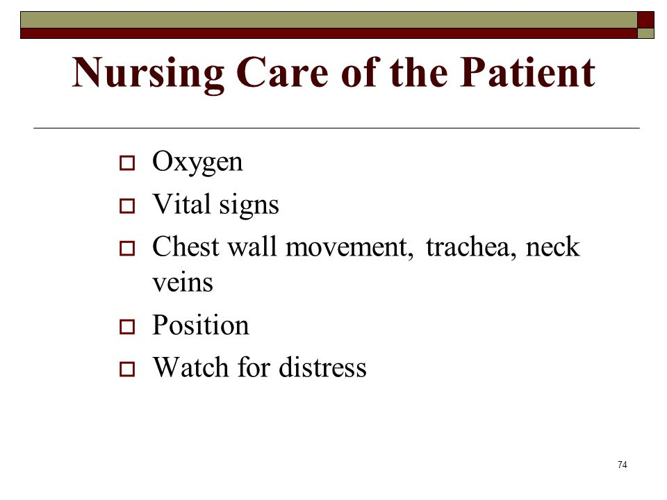 Nursing Care of the Patient