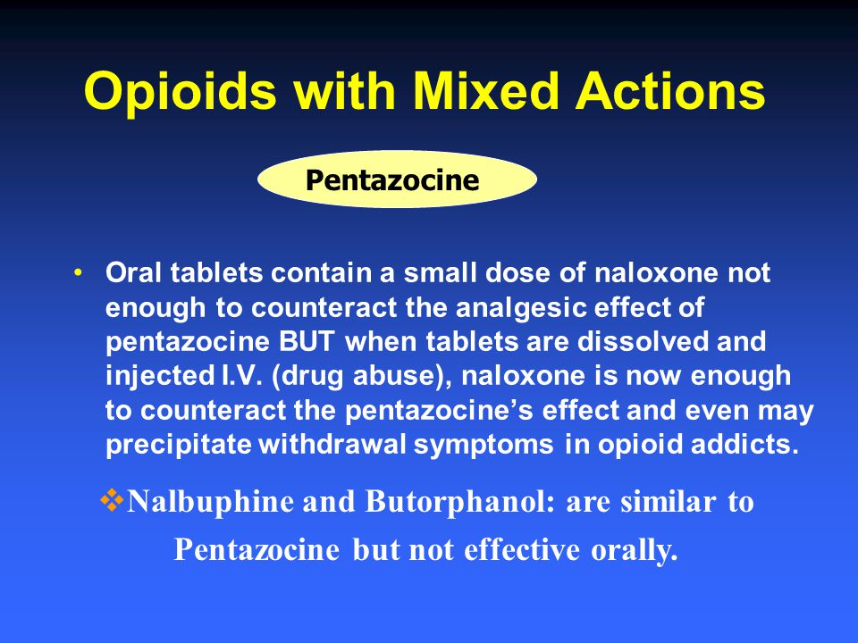 Opioids with Mixed Actions