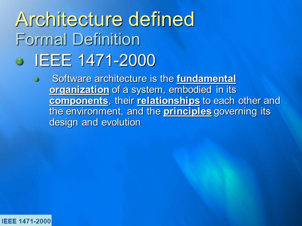 Architecture arnon rotem gal oz product line architect for Ieee definition