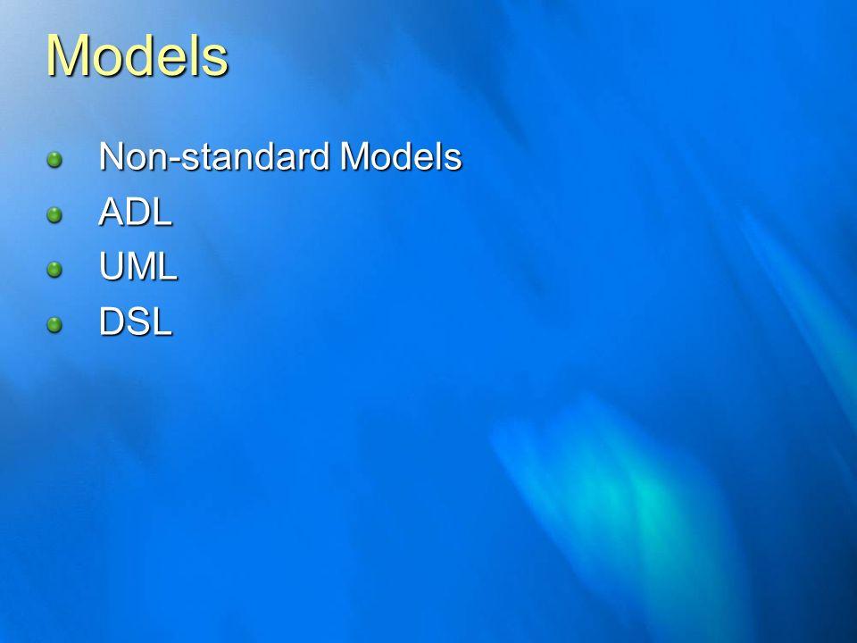 Models Non-standard Models ADL UML DSL