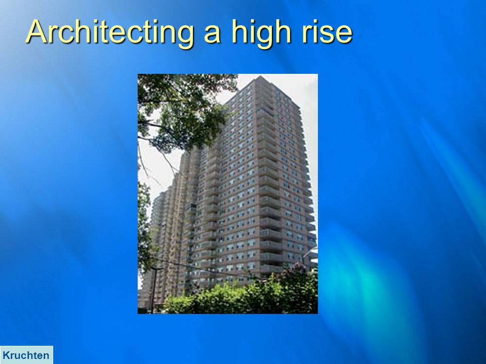 Architecting a high rise