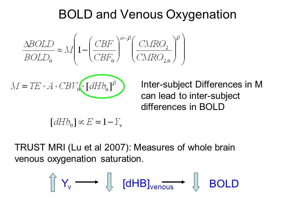 BOLD and Venous Oxygenation