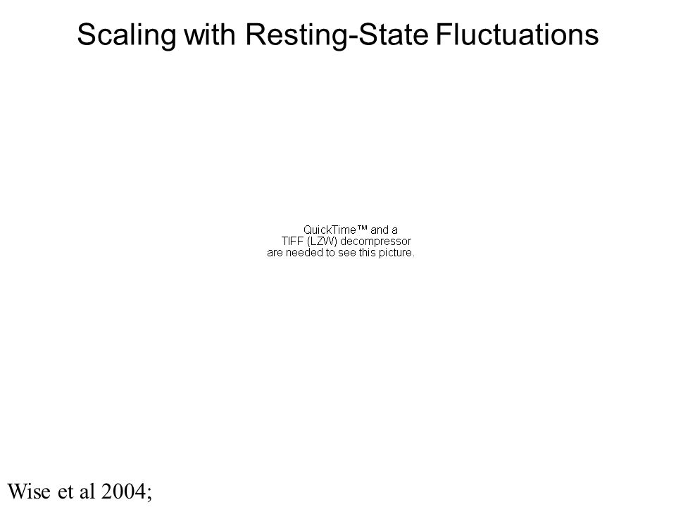 Scaling with Resting-State Fluctuations