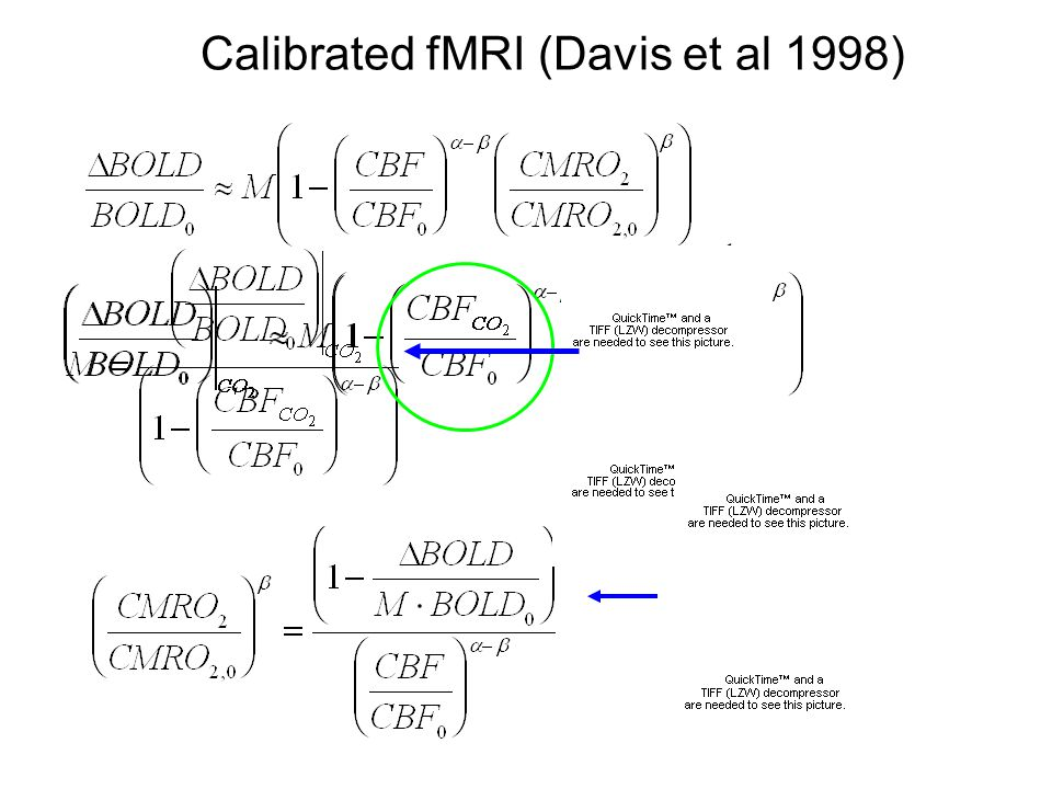 Calibrated fMRI (Davis et al 1998)