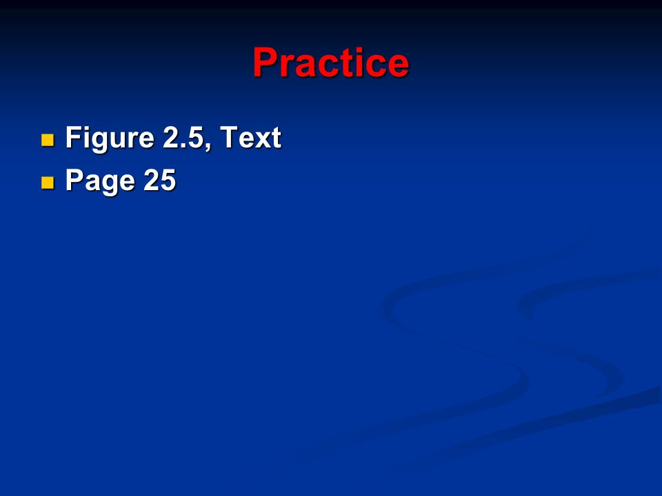 Practice Figure 2.5, Text Page 25