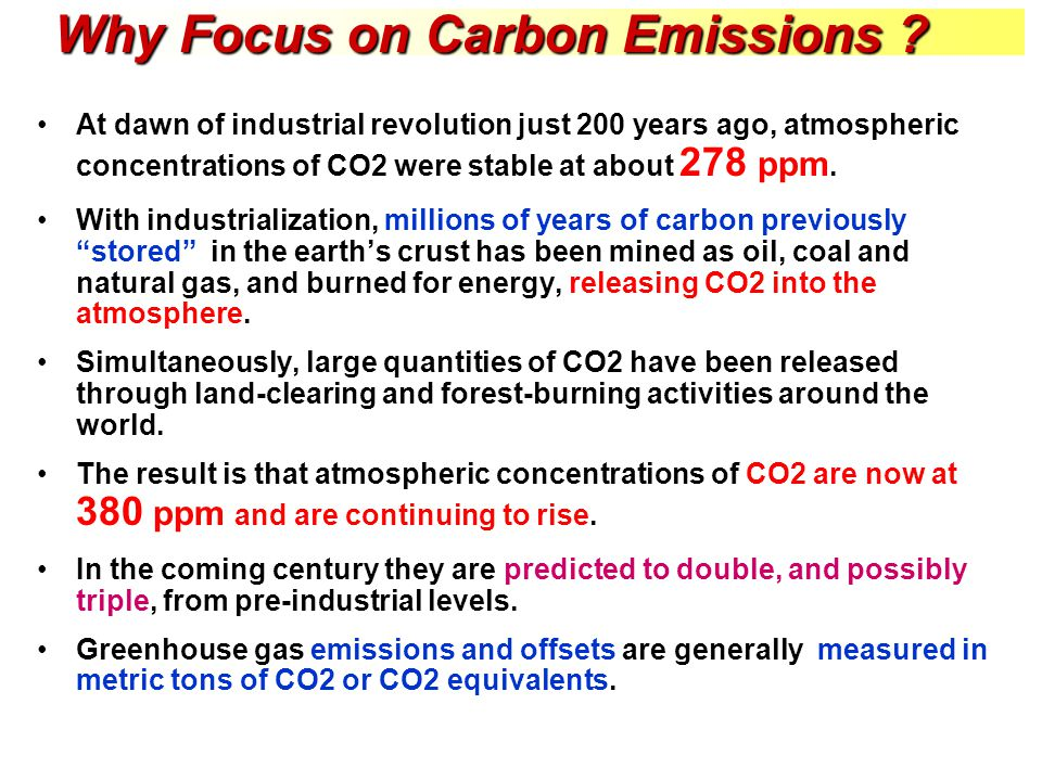 Why Focus on Carbon Emissions