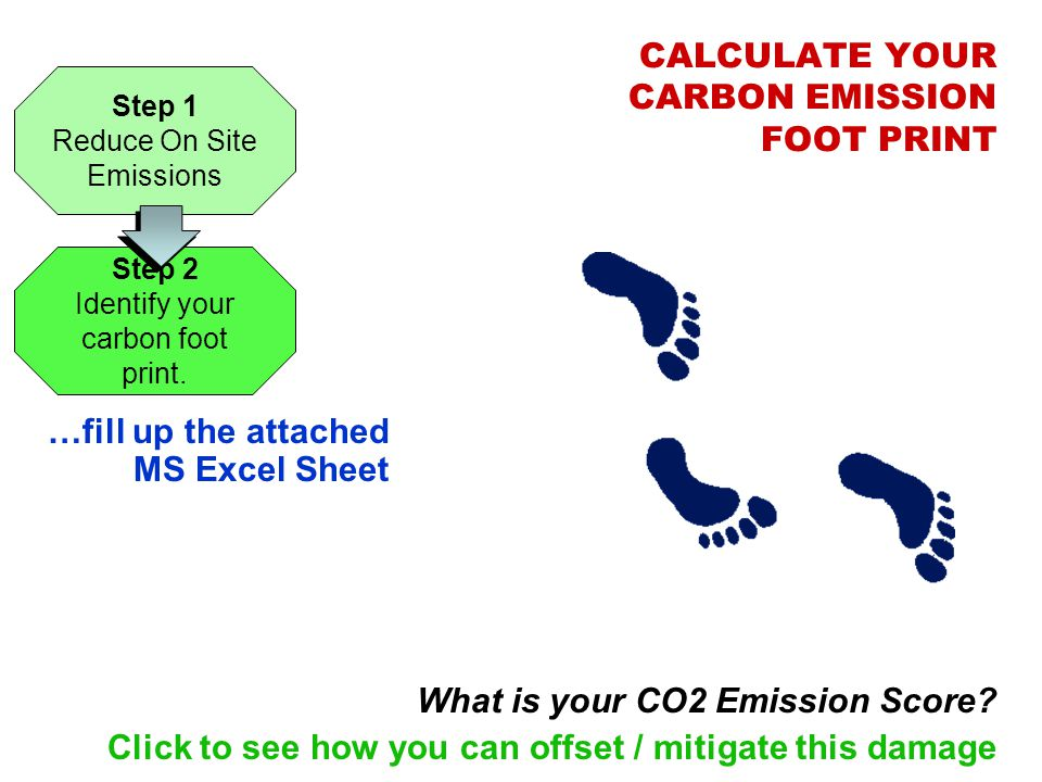 CALCULATE YOUR CARBON EMISSION FOOT PRINT
