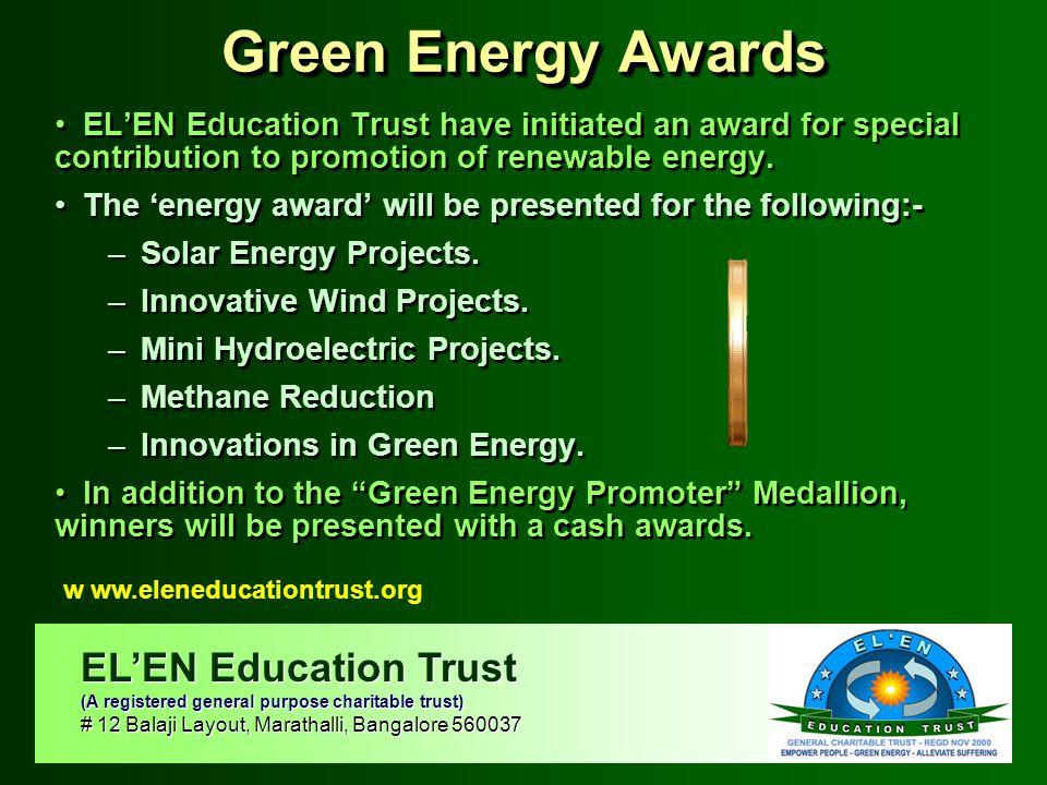 Green Energy Awards EL'EN Education Trust