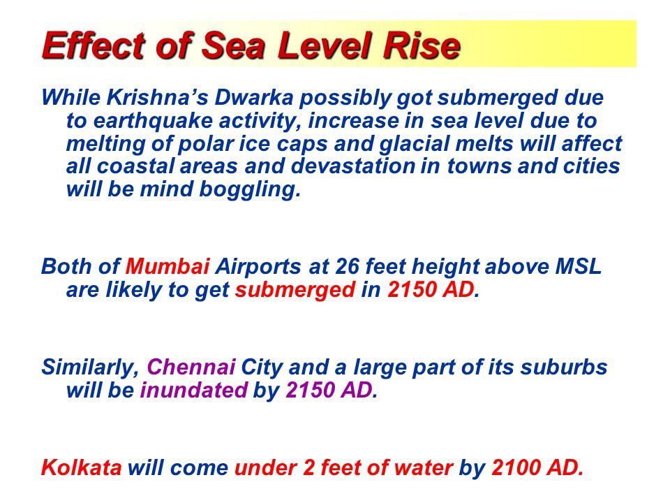Effect of Sea Level Rise