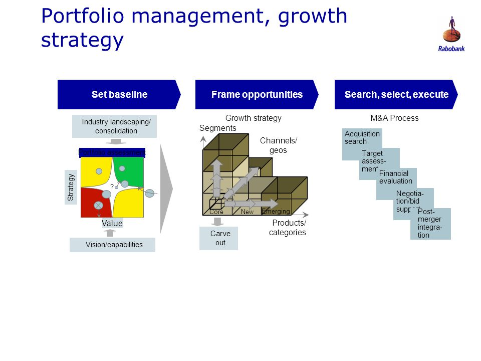 Portfolio management, growth strategy