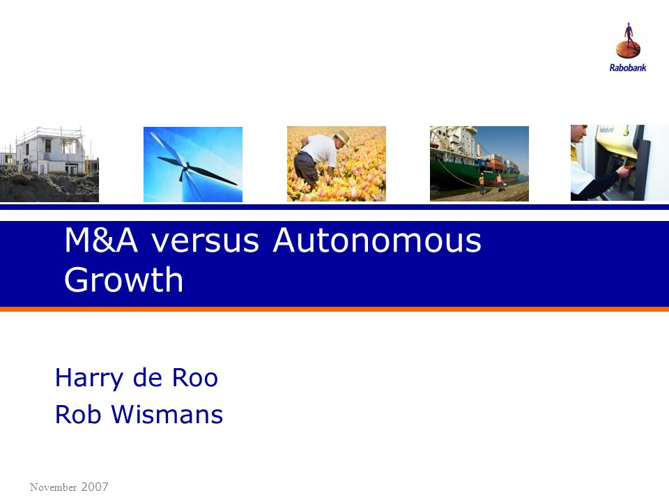 M&A versus Autonomous Growth