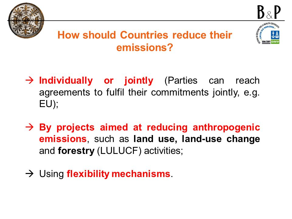How should Countries reduce their emissions