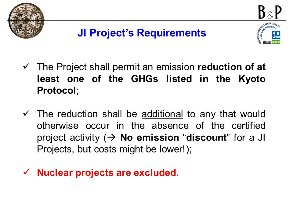 JI Project's Requirements