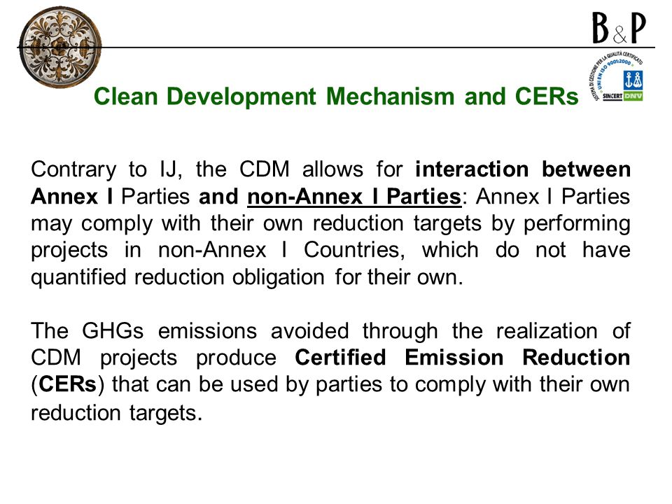 Clean Development Mechanism and CERs
