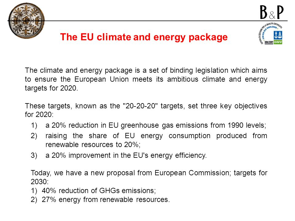 The EU climate and energy package