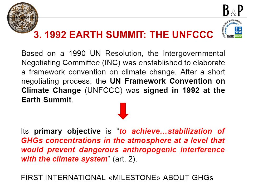 3. 1992 EARTH SUMMIT: THE UNFCCC