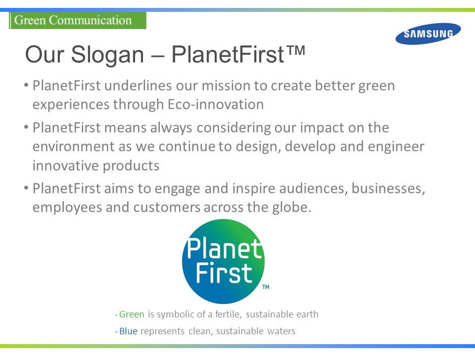 Our Slogan – PlanetFirst™