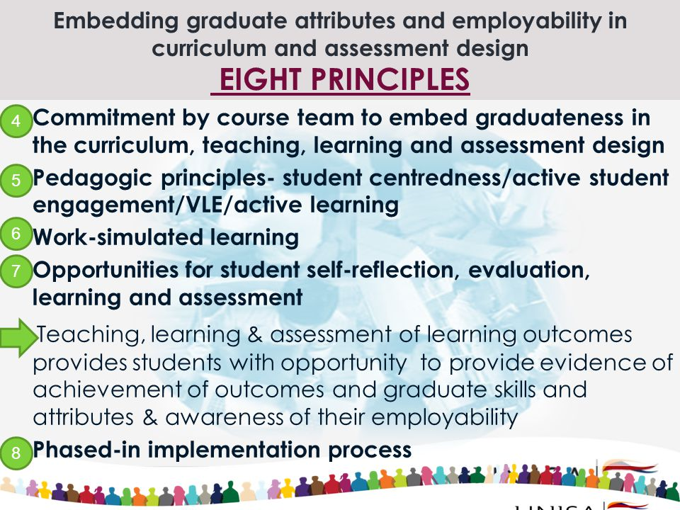 Embedding graduate attributes and employability in curriculum and assessment design EIGHT PRINCIPLES