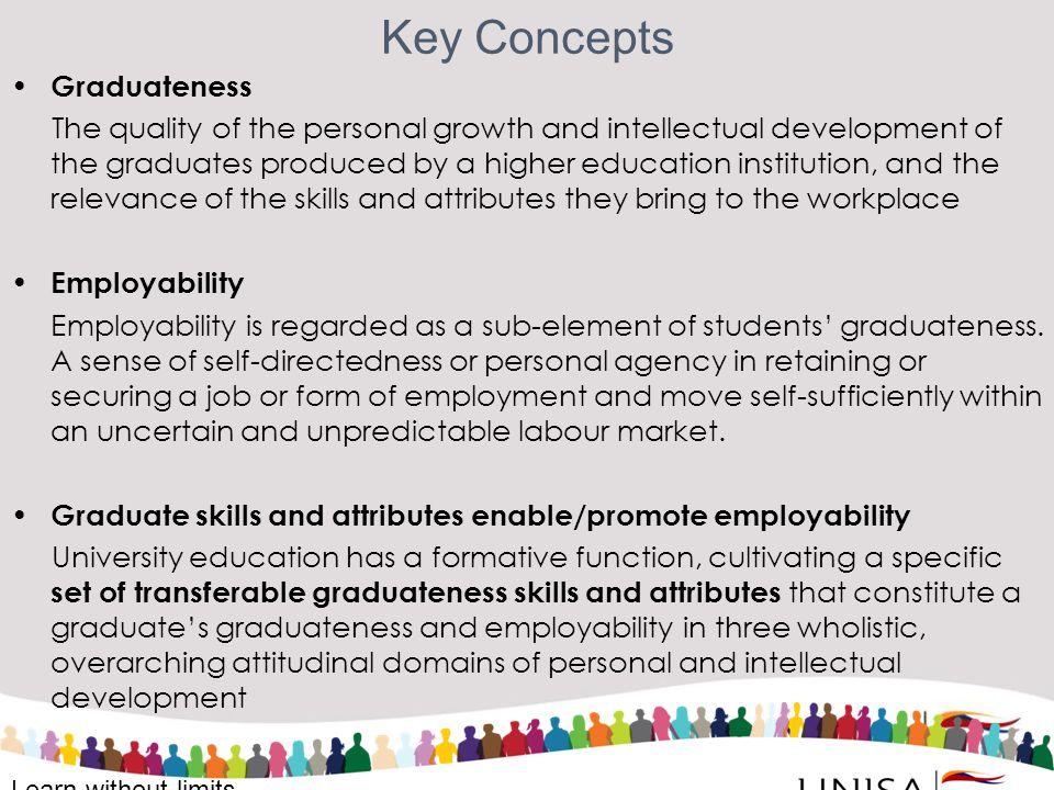 Key Concepts Graduateness