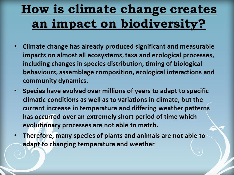 impact of climate change on biodiversity To study the ecological impacts of climate change in nepal mdpi — climate the impact of climate change on biodiversity in nepal: current knowledge.