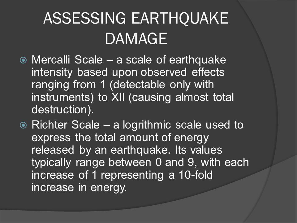 ASSESSING EARTHQUAKE DAMAGE