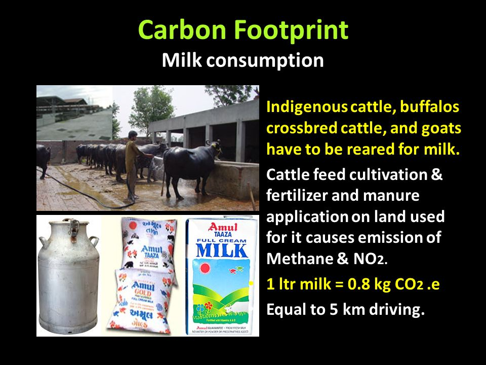 Carbon Footprint Milk consumption